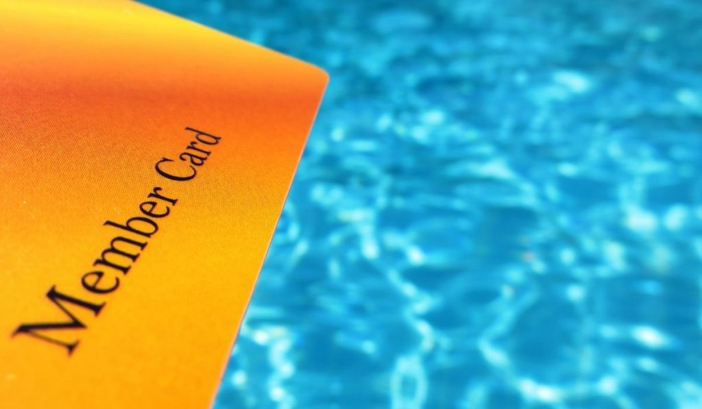 Orange Member Card with blue water background