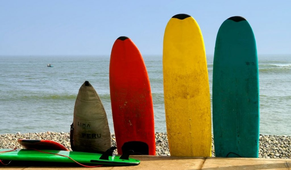 different surf boards