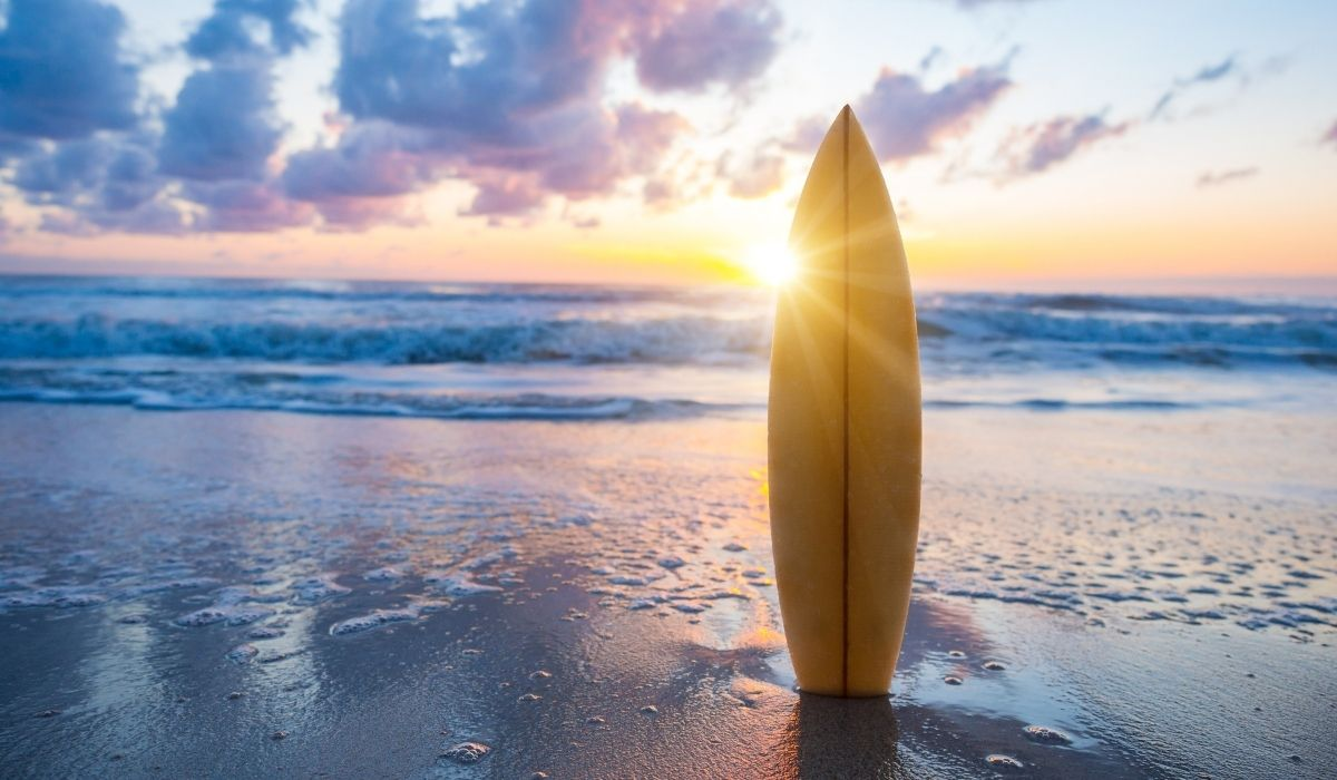 surfboard and sunset